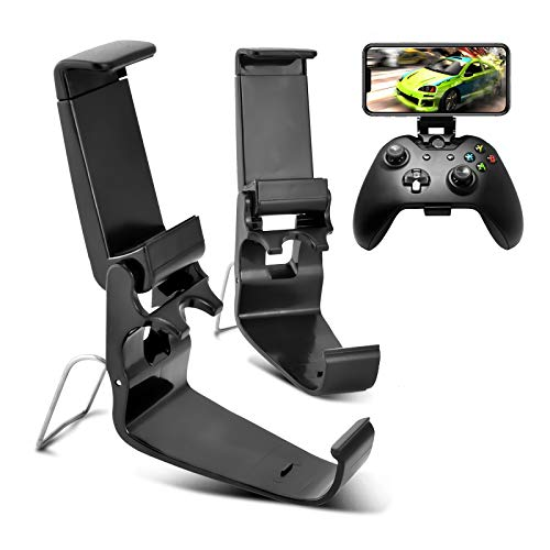 DLseego Compatible with 2 Pack Xbox One Controller Phone Mount Clip, EIN Klappbarer Handyhalter für Einen Game Controller,Ordner für Handyspiele für Xbox One S/X, XL Wireless Controller