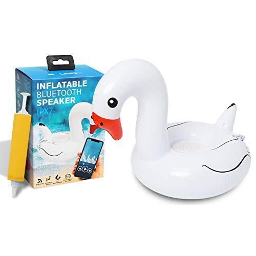 Soundz Waterproof Speaker Pool Inflatable Flamingo with Bluetooth - Outdoor...
