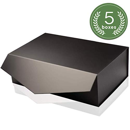 "[Yeden] Large Gift Box | 5 Luxury Boxes | Collapsible Magnetic Closure | Durable Storage Box (14"" x 9"" x 4.5"")"