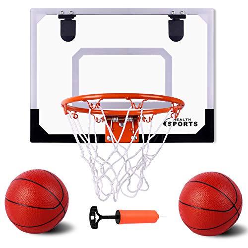 AOKESI Indoor Mini Basketball Hoop and Balls 17.8' x 14'' - Basketball Hoop for Door Set -...