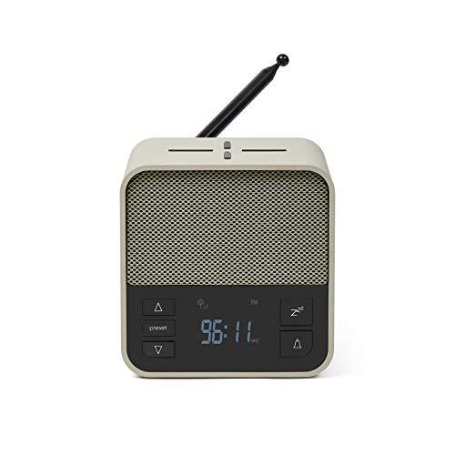 Lexon Oslo News Lite FM-Radiowecker mit Bluetooth-Lautsprecher und Induktionsladegerät 10 W – Grau/Grün