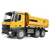 PBTRM 1:14 Camión Volquete Metal Control Remoto RC, Luces Sonidos Construcción Camiones Tractores Funcionales Tractores Juguete 2,4 GHz