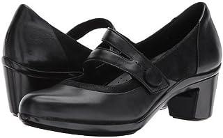 (アラヴォン)Aravon レディースヒール・パンプス Lexee Mary Jane Black Leather 6.5 23.5cm W (D) [並行輸入品]