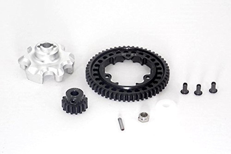 Traxxas XMaxx 4X4 Tuning Teile Aluminium Gear Adapter + Steel Spur Gear 55T + Motor Gear 15T (For XMaxx 6S Only)  1 Set Silver