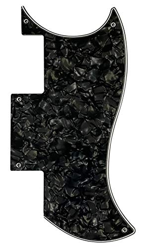 Guitar Parts For Epiphone SG Special Style Guitar Pickguard (4 Ply Black Pearl)