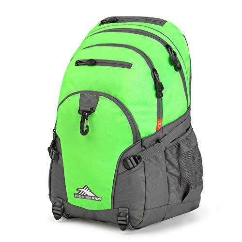 High Sierra Loop Backpack, Lime/Slate, 19 x 13.5 x 8.5-Inch