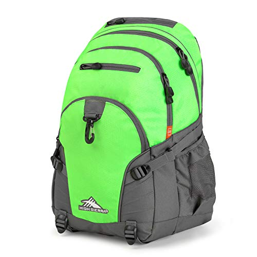 High Sierra Loop Backpack, Lime/Slate, 19 x 13.5 x 8.5-Inch
