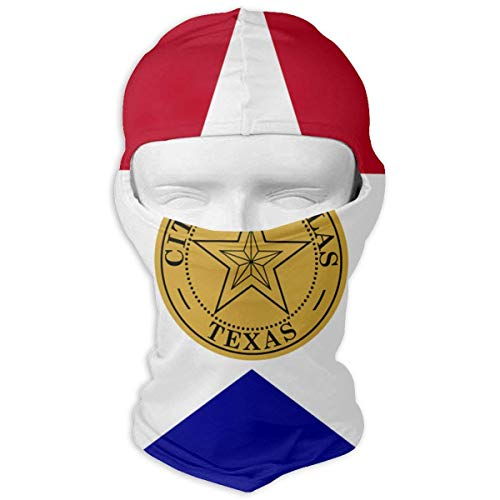 Nifdhkw Flag of Dallas Winter Ski Mask Balaclava Hood - Wind-Resistant Face Mask Fashion8