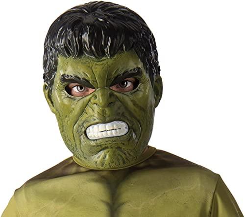 Rubie's The Marvel Avengers-Maschera per bambini, modello Hulk ragazzi, Verde, Taglia unica, 39215NS