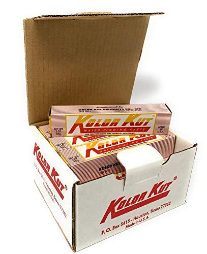 Kolor Kut Paquet de 12 Eau Finding Pâte (85 Grammes) . Détecte Nocif Eau en Carburant / Chauffage Huile Tanks