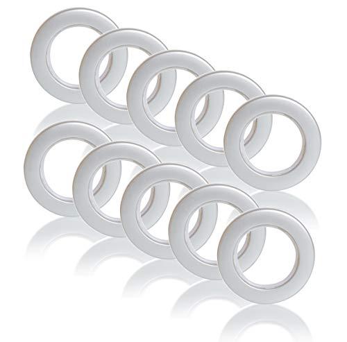 Brilliant Buys 10 x Silberne Ösen Vorhang Ringe für Gardinen mit Ösen geräuscharm