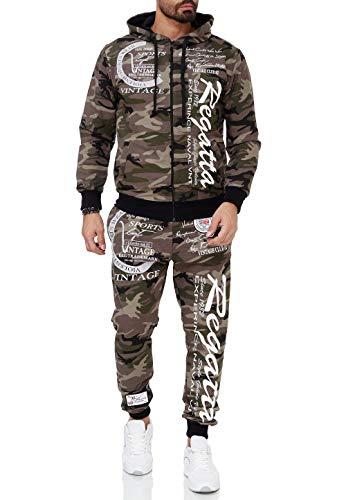 Violento Herren Jogging-Anzug Regatta 509 (M-Slim, Khaki-Camouflage)