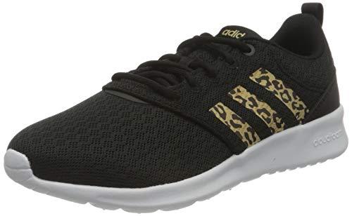 adidas Women's QT Racer 2.0 Running Shoe, Core Black Hazy Beige Grey Five, 6 UK