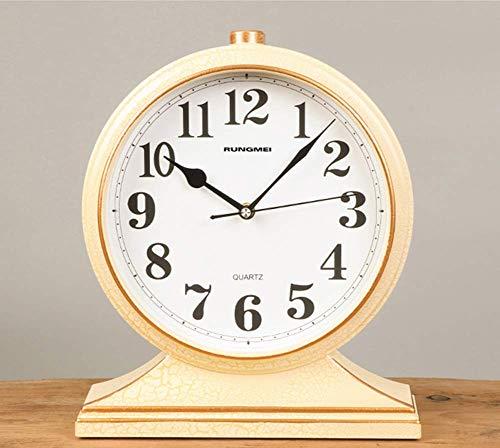 Reloj De Mesa Vintage, Reloj De Escritorio De Estilo Europeo, Reloj De Manto Que No Hace Tictac, Funciona con Pilas, para Decoración del Hogar, H