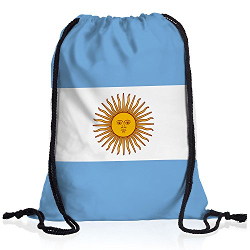 style3 Argentinien Turnbeutel Rucksack Tasche Argentina Flagge WM EM Sport Beutel Festival Fahne Uni Schule Bunt