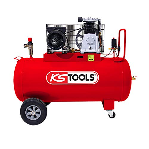 KS Tools - Compresseur d'air sur cuve, 100L 10bar