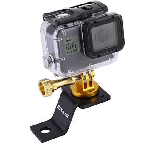 PULUZ Zubehör Motorrad Spiegel / Bolzen feste Halterung Metall Fahrrad Halterung für GoPro Hero 5 4 Session Schwarz Silber 4 3 3 2 Sport Action Kamera (Gold)