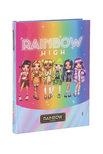 Rainbow High - Diario 2021/2022 12 Mesi - Arcobaleno con 6 Bambine - Medium