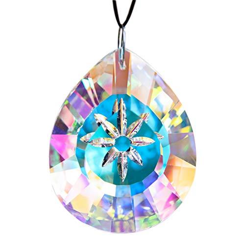H&D Kristall Regenbogen Sonnenfänger Hängend Träne Tropfen Glas Pendelleuchte Kronleuchter Lampe Prismen, 76mm