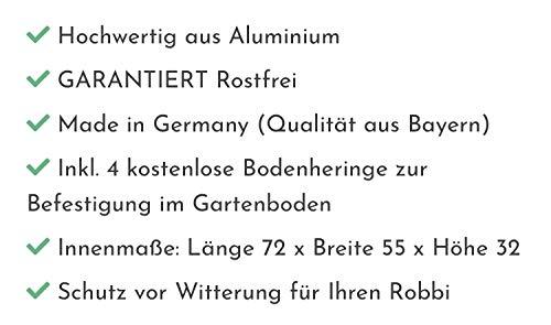 Mähroboter Garage mit Schrift nach Kundenwunsch in SCHWARZ MATT - 7