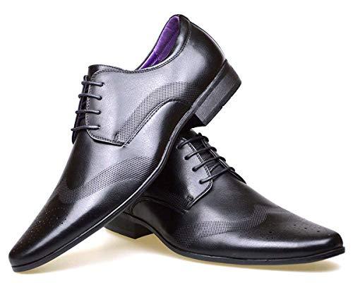 S & B Footwear Zapatos Oxford para hombre, con forro de piel,...