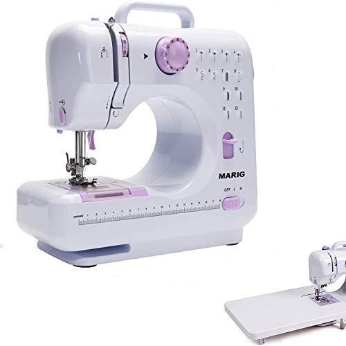 Máquina de coser, 12 puntadas, mesa de extensión