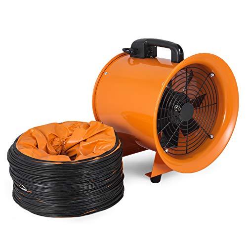 Frantools Industrieventilator 10 Zoll tragbarer Ventilator Luft Axial Metallgebläse 0,45 PS 1520 CFM Werkstattventilator Multifunktionsventilator Dunstabzug