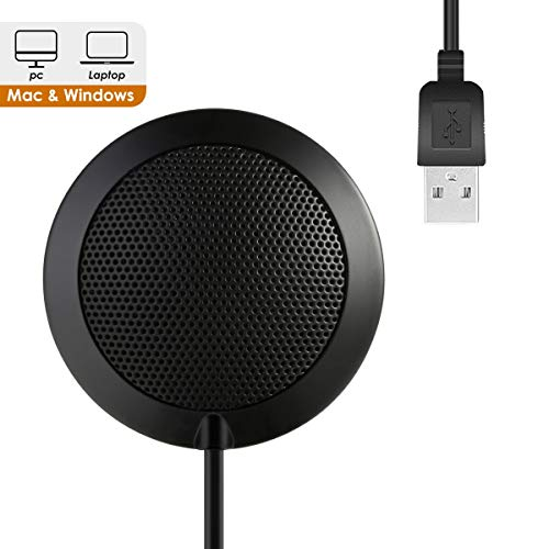 HaiQianXin Conferentie Microfoon, Plug Mic Tabel Top Omnidirectionele Condenser Grensconferentie Computer