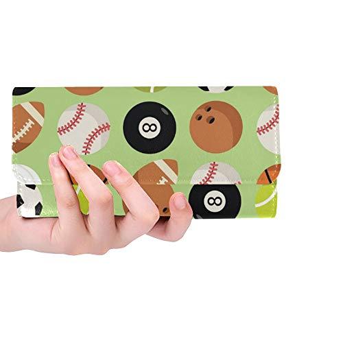 Einzigartige benutzerdefinierte Geschenkpapier drucken Geschenk Sport Frauen Trifold Wallet Lange Geldbörse Kreditkarteninhaber Fall Handtasche