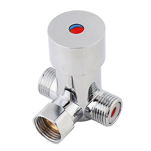 G1 / 2 Válvula Mezcladora de Agua, Fría y Caliente, Válvula Termostática de Latón, para Grifo Automático