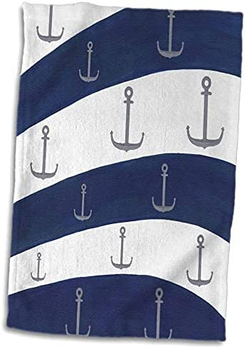 CherylsArt Nautical - Painting Max 84% OFF Silver Gray On Na Pattern Anchors lowest price