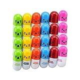 XitonHot Vente 20pcs / lot, Stylo à bille, pilule de vitamine, nouveauté Pen, Size12x2.4cm, stylo cadeau, multicolore par