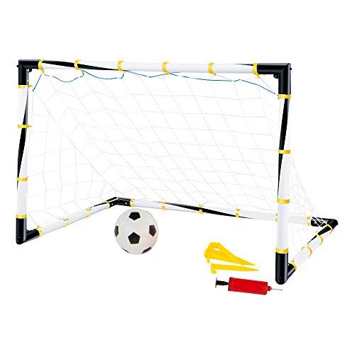 ColorBaby - Portería de fútbol plegable con balón e hinchador CBtoys (43690)