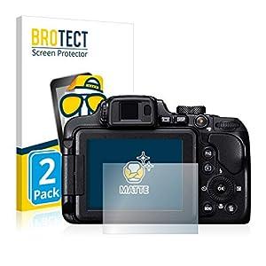 BROTECT Protector Pantalla Anti-Reflejos Compatible con Nikon Coolpix B700 (2 Unidades) Pelicula Mate Anti-Huellas