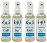 WcWunder WC Pure Toilettenduft, Toilettenparfüm, Geruchsblocker PET-Flasche (Meeresbrise, 4 x 100ml)