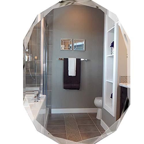 LXYZ Specchi da Parete Senza Cornice Specchi da Bagno ovali Specchi per Trucco sospesi Accessori per Toilette Specchio Decorativo Vetro HD, per corridoio, Soggiorno, Camera da Letto