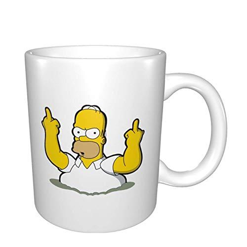 Homer Sim_pson Taza de café de cerámica para oficina, escuela, hogar
