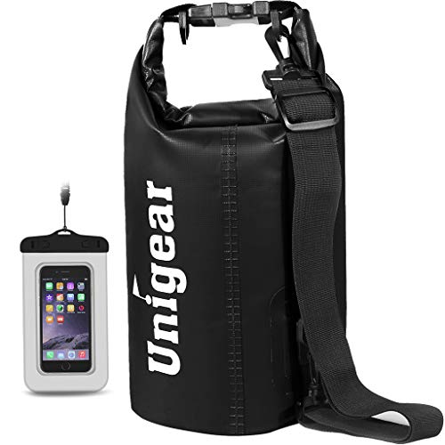Unigear Dry Bag, Wasserdicht Taschen mit Handytasche und Gurte für Boot und Kajak, Angeln, Rafting, Schwimmen, Camping und Snowboarden, MEHRWEG