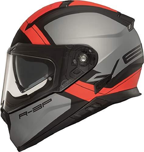 Vemar Casco Moto 2019 Zephir Mars Matt Argento Rosso (M, Argento)