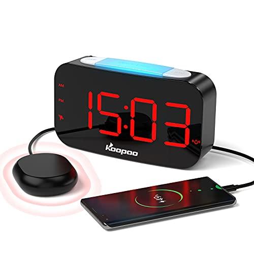 Extra Loud Alarm Clock for Heavy Sleepers, Vibrating Alarm Clock for...