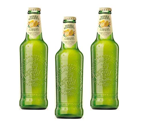 Birra Moretti Italienisches Bier mit Limonen-Geschmack. 3 x 0,33 Liter.