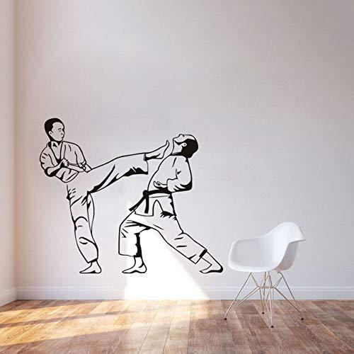 76x90 cm Wand Poster, Karate Kicker Kampfsport Klebstoff Kinder Jungen Sport Aufkleber Für Tapeten Hängen Abnehmbare Bilder Bild Wandbild Zimmer Modern