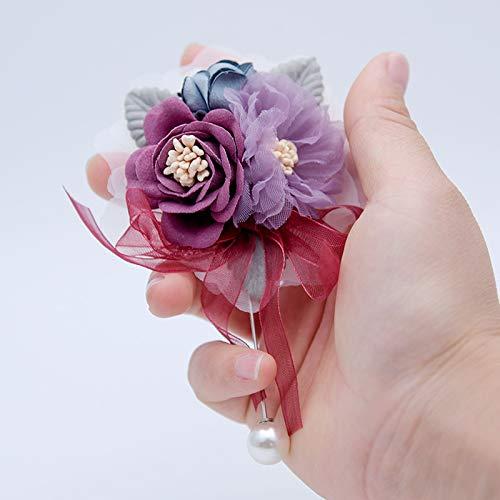 miaoyu Flor de muñeca de novia ramillete de muñeca para dama de honor, hermanas de mano, flores artificiales para novia, decoración de bodas, bailes y fiestas, accesorios de graduación (color 9)
