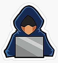 Retro Hack Coder Hacking Hoodie Hacker - Sticker Graphic - Auto, Wall, Laptop, Cell, Truck Sticker for Windows, Cars, Trucks
