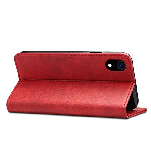 iPhone8 ケース 手帳型 高級PUレザー iPhone8カバー 耐衝撃 カード収納 スタンド機能付き 耐摩擦 人気 おしゃれ アイフォン7カバー 財布型ケース レッド