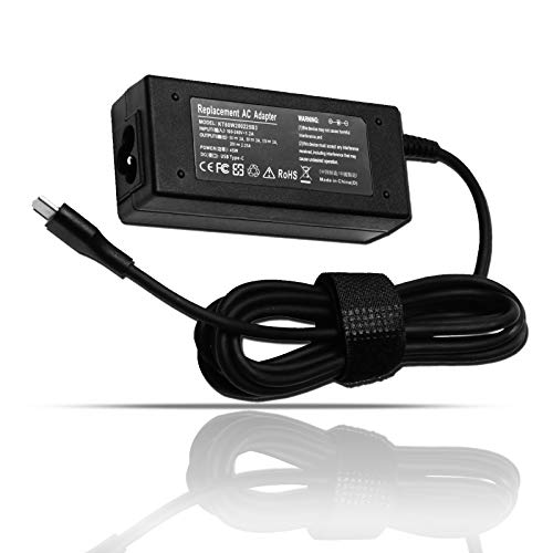 45W USB C Type-C AC Adapter Laptop Charger Fit for HP Spectre x360 13 15 13-v111dx 13-v011dx 13-w023dx 15-ch011dx 15-bl012dx 15-bl112dx Chromebook X360 14-CA000 11-AE000 11-ae051wm Power Supply Cord