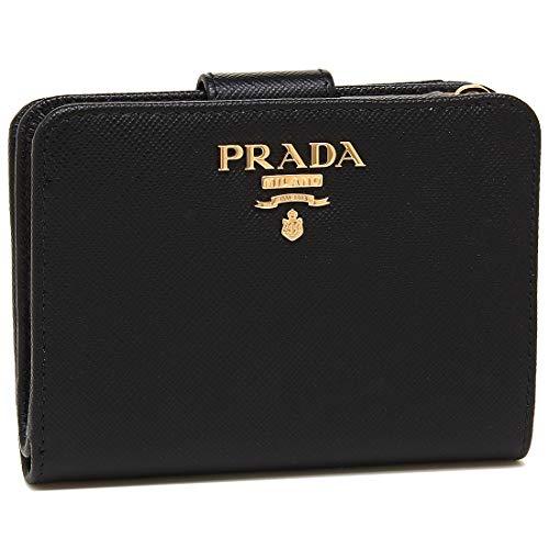 [プラダ]折財布 レディース PRADA 1ML018 QWA F0002 ブラック [並行輸入品]
