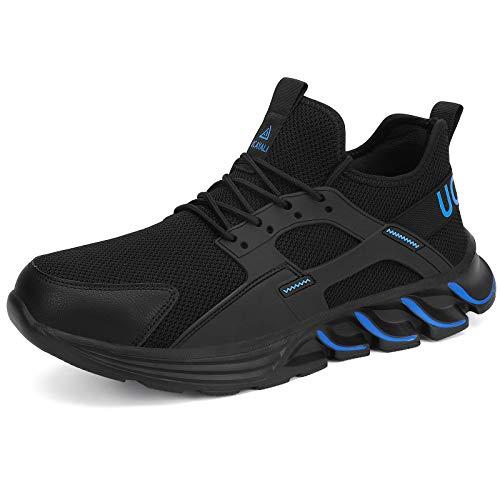 UCAYALI Sicherheitsschuhe Herren Arbeitsschuhe Damen Stahlkappe Schuhe Männer Schutzschuhe S3 Sportlich Anti-Punktion Sneaker Dunkelblau Gr.44