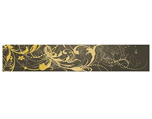 WandBild Bordüre Grunge Banner I Bordüre Schnörkel Verzierung Ranken Antik, Größe:15cm x 576cm