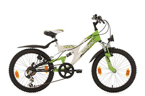 KS Cycling Kinderfahrrad Mountainbike Fully 20\'\' Zodiac weiß-grün RH31cm
